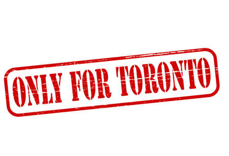 solely: Rubber stamp with text only for Toronto inside