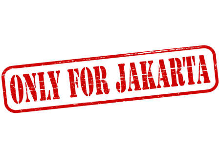 jakarta: Rubber stamp with text only for Jakarta inside Illustration