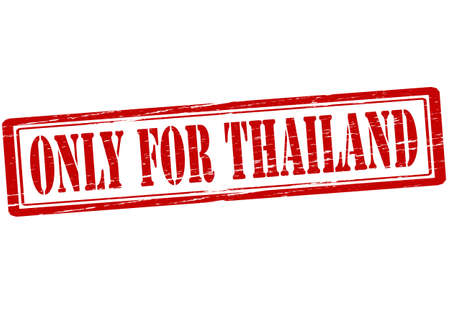 solely: Rubber stamp with text only for Thailand inside, vector illustration