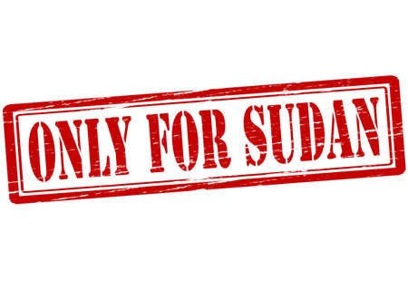 solely: Rubber stamp with text only for Sudan inside, vector illustration