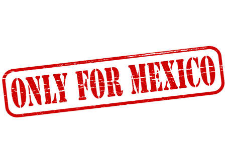 purely: Rubber stamp with text only for Mexico inside, vector illustration