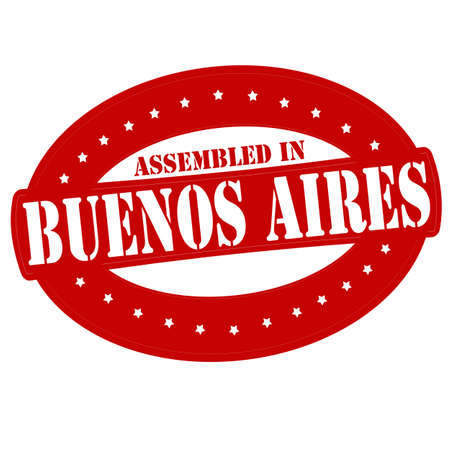 Stamp with text assembled in Buenos Aires inside Vector