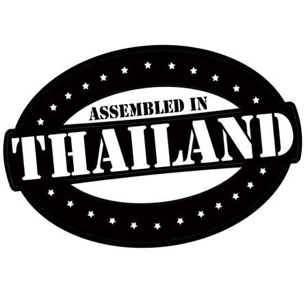 Stamp with text assembled in Thailand inside