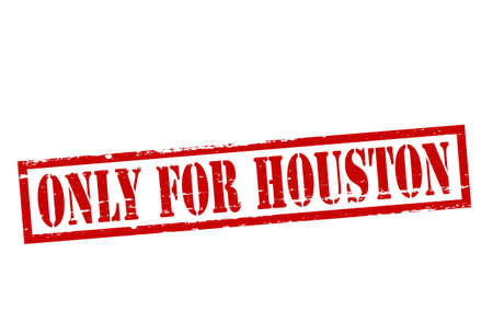 houston: Rubber stamp with text only for Houston inside, vector illustration