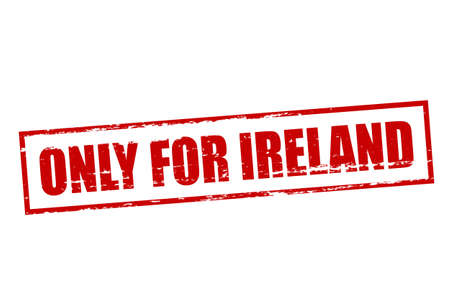 solely: Rubber stamp with text only for Ireland inside, vector illustration