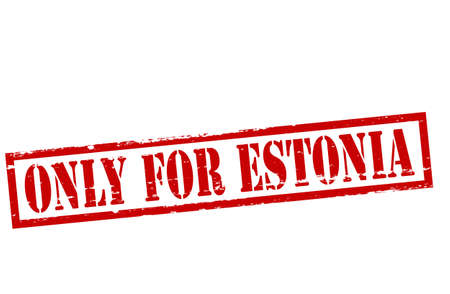 Rubber stamp with text only for Estonia inside, vector illustration Vector