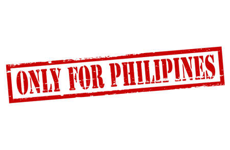 purely: Rubber stamp with text only for Philipines inside, vector illustration