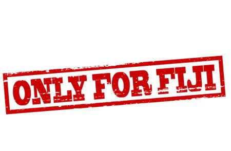 fiji: Rubberen stempel met de tekst alleen voor Fiji binnen, vector illustratie