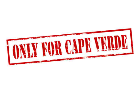 cape verde: Rubber stamp with text only for Cape Verde inside, vector illustration Illustration