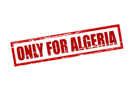 purely: Rubber stamp with text only for Algeria inside, vector illustration