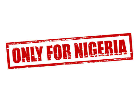 purely: Rubber stamp with text only for Nigeria inside, vector illustration Illustration