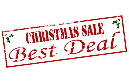 undertaking: Rubber stamp with text Christmas sale inside, vector illustration