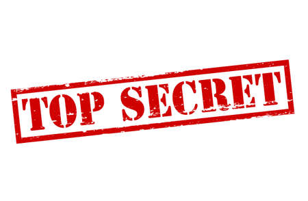 Rubber stamp with text top secret inside, vector illustration