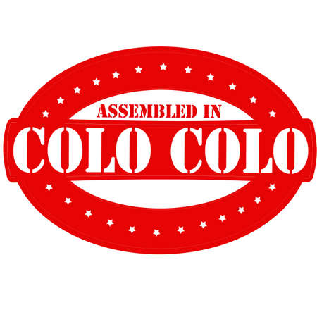 colo: Rubber stamp with text assembled in Colo Colo inside, vector illustration Illustration