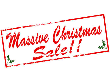 massy: Rubber stamp with text massive Christmas sale inside, vector illustration