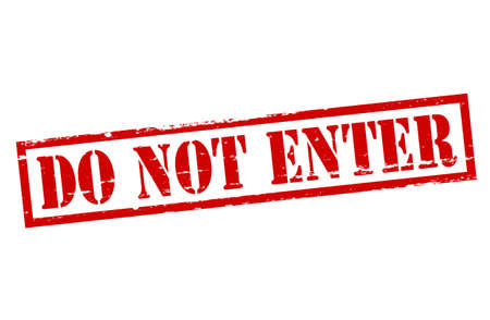 do not enter sign: Rubber stamp with text do not enter inside, vector illustration