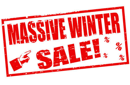 massy: Rubber stamp with text massive winter sale inside, vector illustration