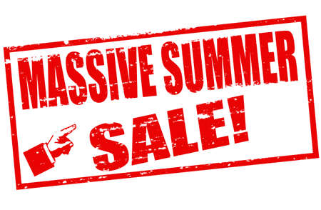 massy: Rubber stamp with text massive summer sale inside, vector illustration