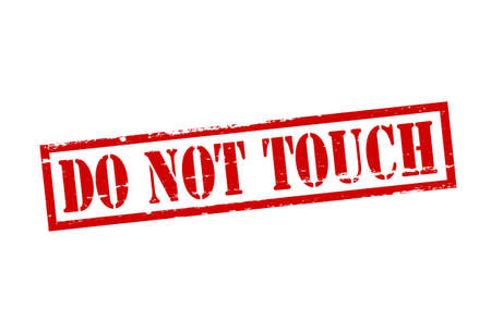 do not touch: Rubber stamp with text do not touch inside, vector illustration