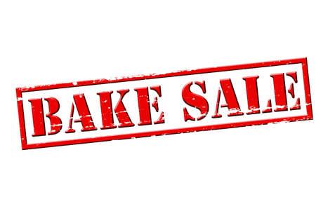 bake sale sign: Rubber stamp with text bake sale inside, vector illustration Illustration