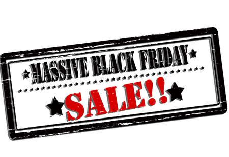 massive: Rubber stamp with text Massive black Friday sale inside, vector illustration Illustration