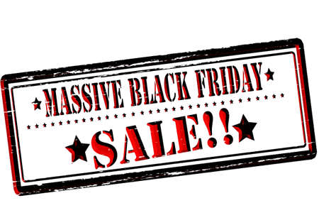massy: Rubber stamp with text assive black Friday sale inside, vector illustration
