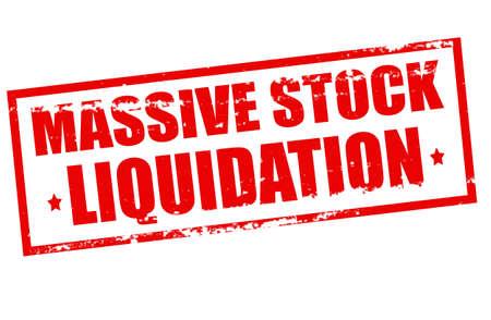Rubber stamp with text assive stock liquidation inside, vector illustration Ilustração Vetorial