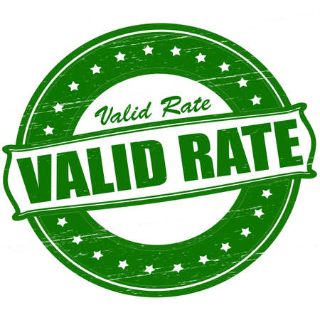 valid: Stamp with text valid rate inside, vector illustration