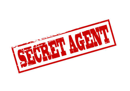 Rubber stamp with text secret agent inside