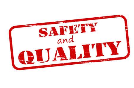 surety: Timbro di gomma con il testo di sicurezza e qualit� all'interno illustrazione