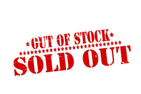 Rubber stamp with text sold out inside illustration Illustration