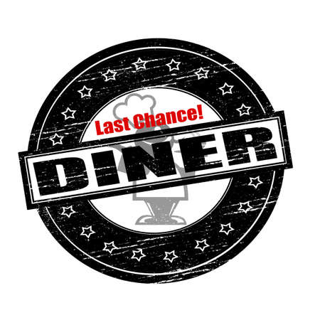circumstance: Rubber stamps with text last chance diner inside, vector illustration Illustration
