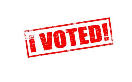 głosowało: Pieczątki z tekstem głosowałem wewnątrz, ilustracji wektorowych