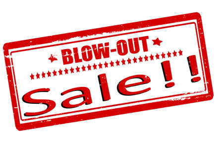 blow out: Rubber stamps with text sale blow out inside, vector illustration