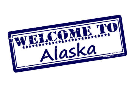 Rubber stamps with text welcome to Alaska inside, vector illustration Vector