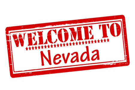 acclaim: Rubber stamps with text welcome to Nevada inside, vector illustration Illustration