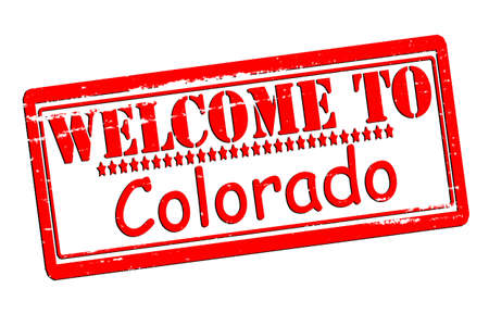 acclaim: Rubber stamps with text welcome to Colorado inside, vector illustration Illustration