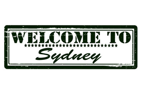 acclaim: Rubber stamps with text welcome to Sydney inside, vector illustration