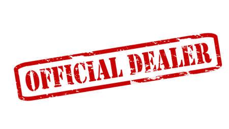 Stempels met tekst officieel dealer binnen, vector illustratie Stock Illustratie