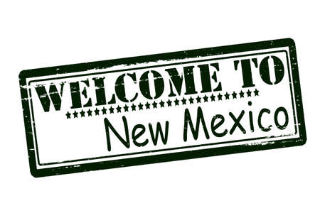 acclaim: Rubber stamps with text welcome to New Mexico inside, vector illustration Illustration