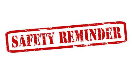 surety: Rubber stamps with text safety reminder inside, vector illustration Illustration