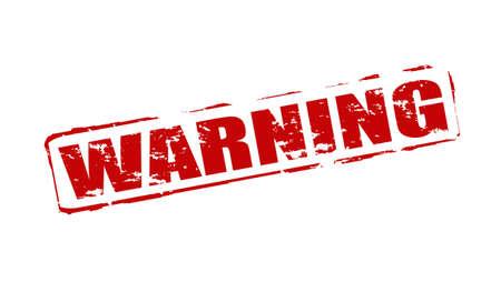 monition: Rubber stamps with word warning inside, vector illustration Illustration
