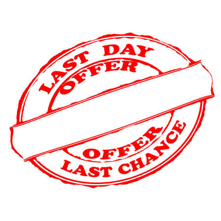 last day: Rubber stamps with text last day offer inside, vector illustration