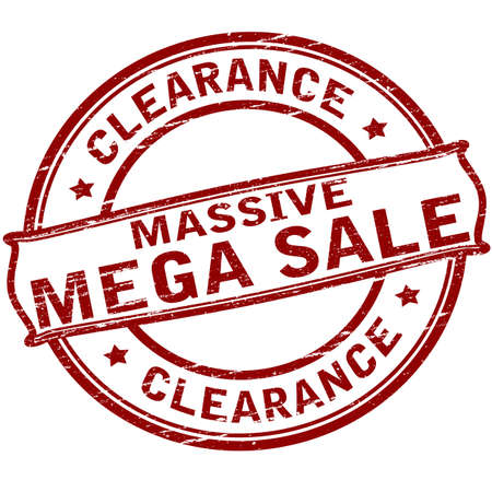 massy: Rubber stamp with text clearance massive sale inside, vector illustration Illustration