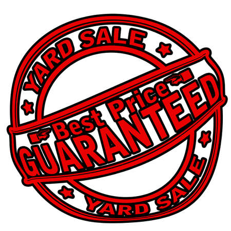 yard sale: Rubber stamp with text yard sale inside, vector illustration