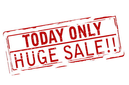 tremendous: Rubber stamp with text today only huge sale inside, vector illustration
