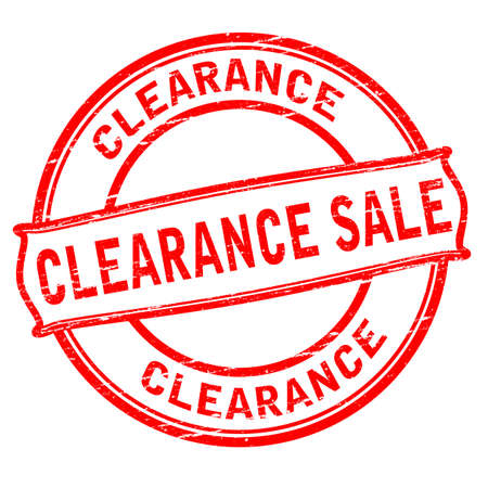 Rubber stamp with text clearance sale inside, vector illustration