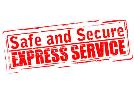 warrant: Rubber stamp with text safe and secure inside, vector illustration