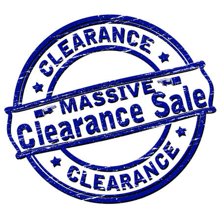 massive: Rubber stamp with text massive clearance sale inside, vector illustration
