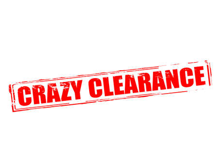 lunatic: Rubber stamp with text crazy clearance inside, vector illustration Illustration